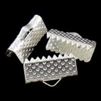 Klemmetje plat ijzer metaal zilver