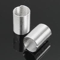 Rolletjes veer ijzer zilver