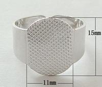 Ringvinger bras metaal platina