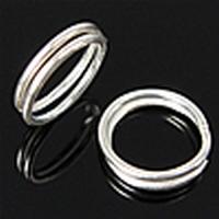 Splitring dubbel loop ijzer zilver