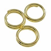 Splitring dubbel loop ijzer goud