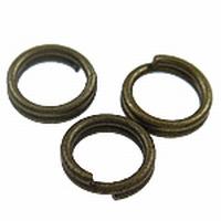 Splitring dubbel loop ijzer brons