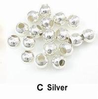 Rond kraaltje ijzer zilver