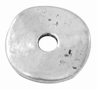 platte donut zink alloy zilver