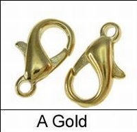 Karabijn bras metaal slotje goud