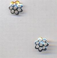 Bloem rond mini zilver