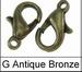 Karabijn zink alloy slotje brons